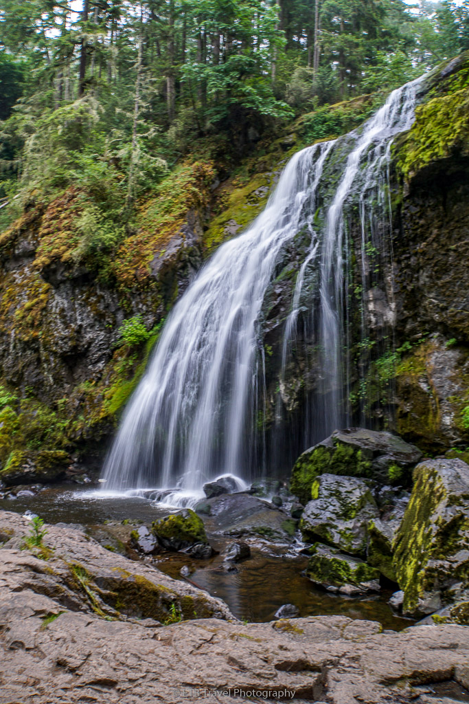 middle mashel falls in the pack forest