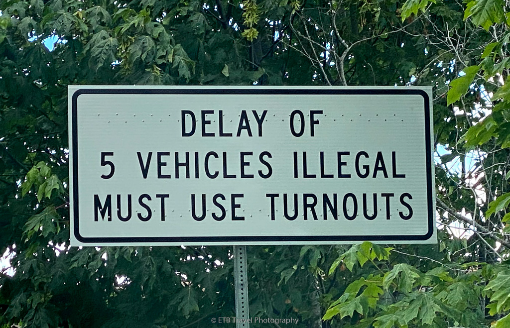 PSA: delay of 4 vehicles illegal, must use turnouts