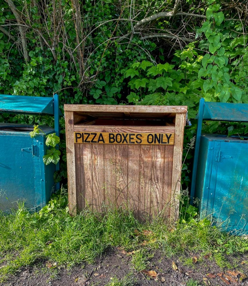 pizza boxes only trash can
