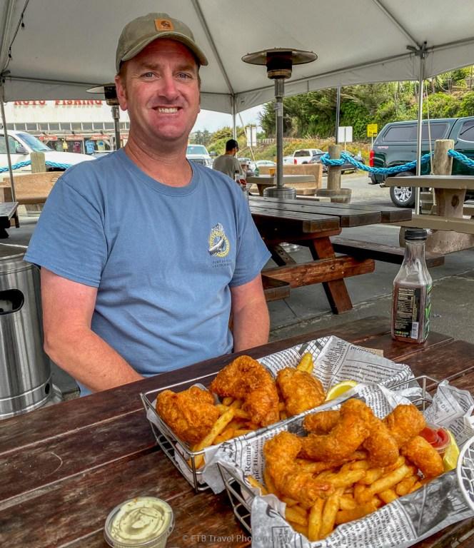 fried fish at noyo fish company