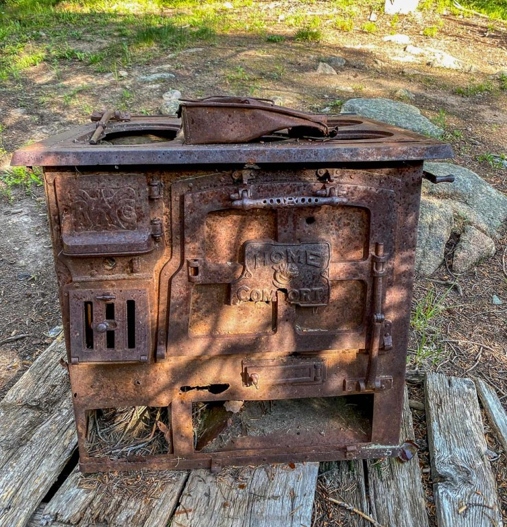 old stove on swamp lake trail in leadville