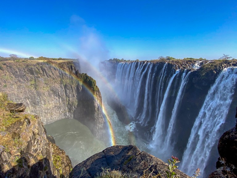 view of victoria falls from knife edge bridge