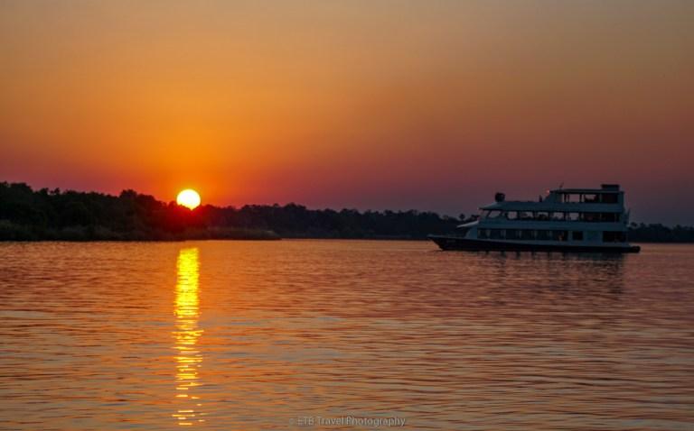 sunset cruise in livingstone