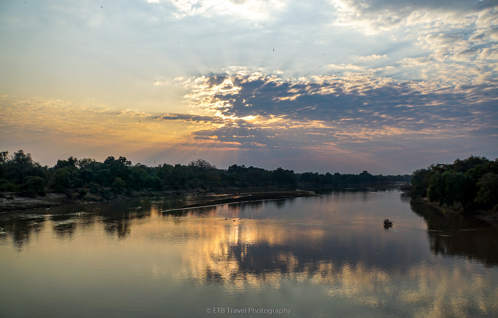 sunrise over the luangwa river