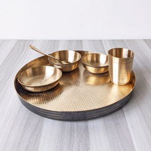 bronze thali set online shopping
