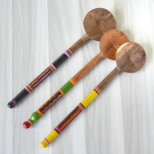 wooden gravy spatula for cooking