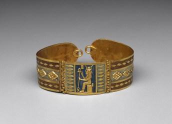 Bracelet with image of Hathor 100 B.C. Gold, enamel *Harvard University—Boston Museum of Fine Arts Expedition *Photograph © Museum of Fine Arts, Boston