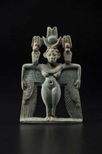 Winged goddess pectoral 743–712 B.C. Faience *Harvard University—Boston Museum of Fine Arts Expedition *Photograph © Museum of Fine Arts, Boston