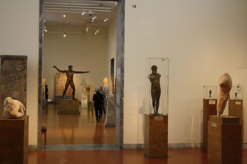 An interior view of the National Archaeological Museum, Athens.
