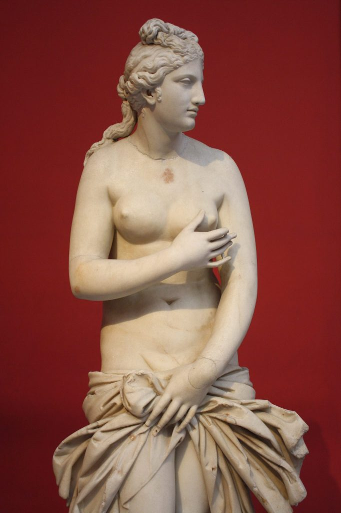 Aphrodite, Parian marble, 2nd century CE copy of a 4th century BCE original.