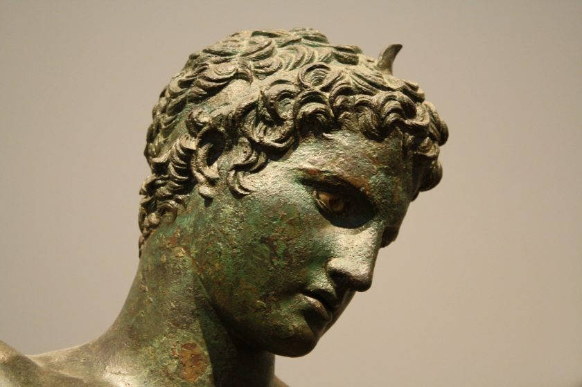 A bronze athlete, Attica, 340-330 BCE.