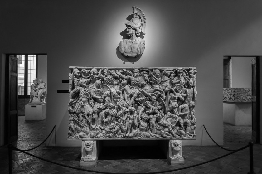 The Ludovisi Battle sarcophagus in Palazzio Altemps, III century AD