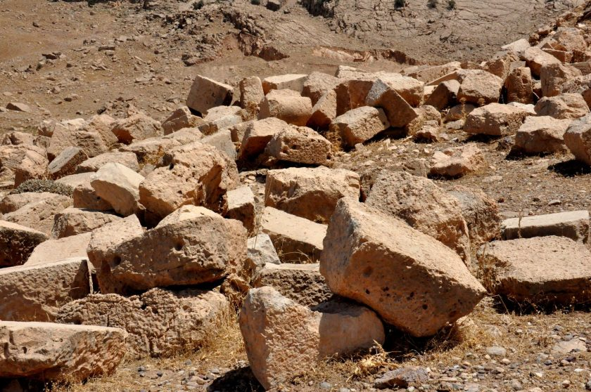 These stone blocks bear no inscriptions.