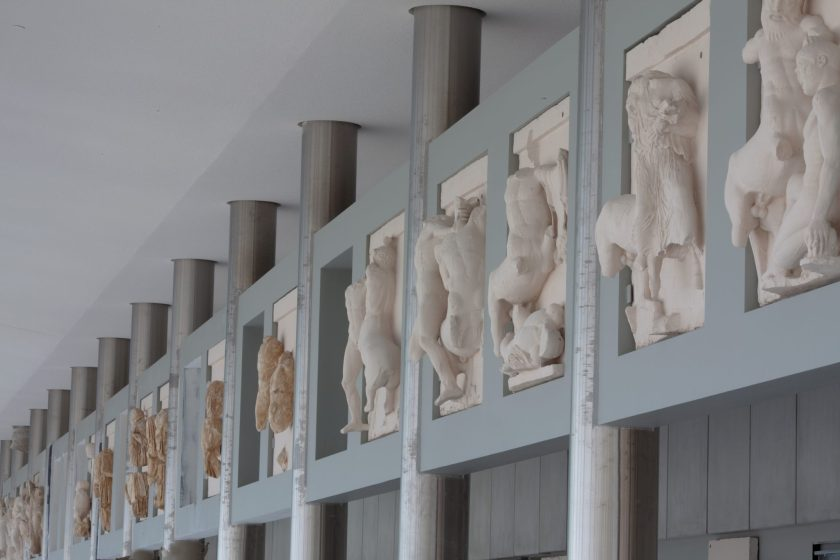 The Metopes and the columns.
