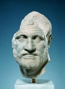 Portrait of a Bearded Man. c. 150 BCE marble 40.7 x 25 x 31.7 cm. Malibu, J. Paul Getty Museum.