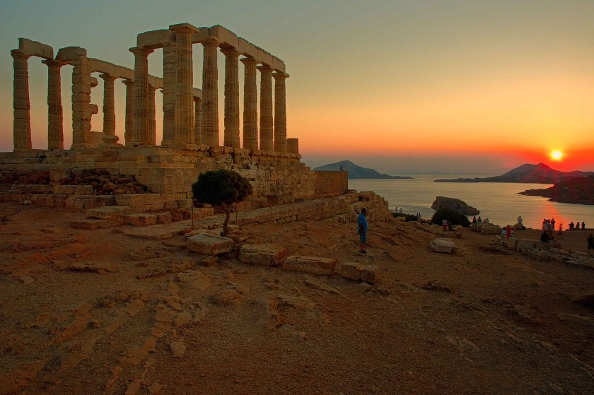 View from the Temple of Poseidon at Cape Sounion