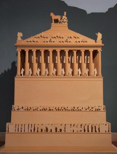Model of the Mausoleum of Halicarnassus.