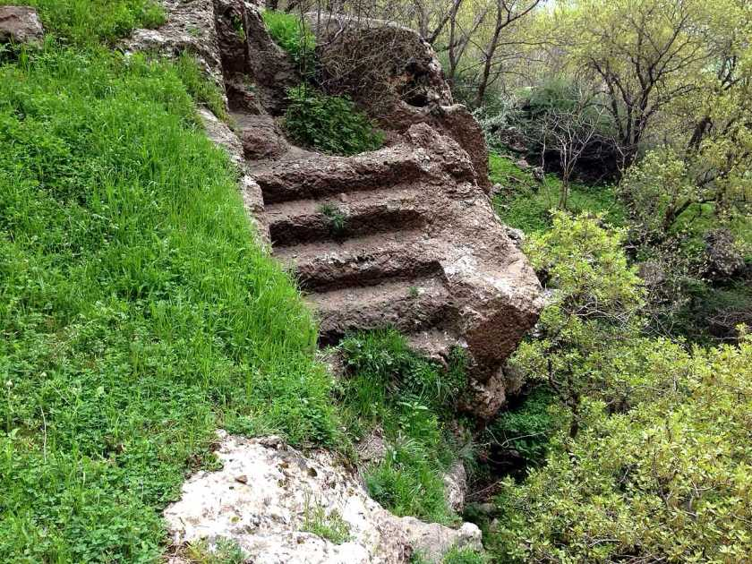 This stair-like structure was found higher up in the Mountain. There few other near by similar structures.