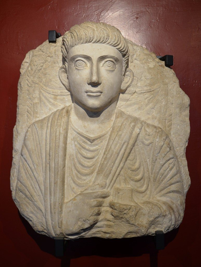 Funerary bust of a man from Palmyra, Roman Imperial period, 2nd century AD Vatican Museums, Rome. Carole Raddato CC BY-SA
