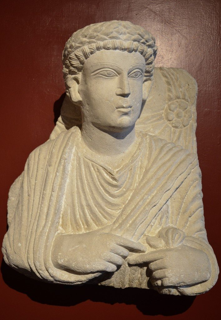 Funerary bust of a man from Palmyra, Roman Imperial period, 3rd century AD Vatican Museums, Rome. Carole Raddato CC BY-SA