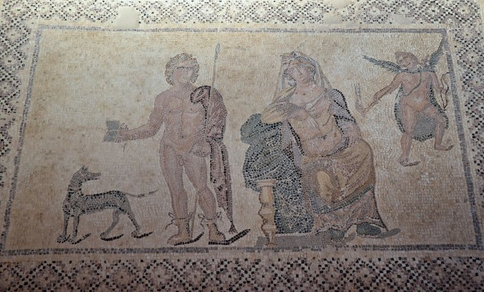 Phaedra and Hippolytus in the House of Dionysus, late 2nd / early 3rd century AD, Paphos Archaeological Park