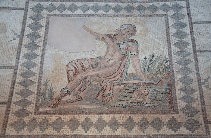 Mosaic of Narcissus in the House of Dionysus, late 2nd/early 3rd century AD, Paphos Archaeological Park