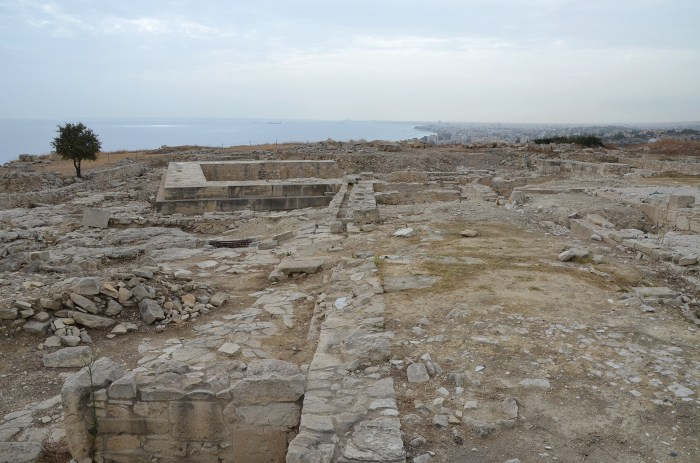 The Acropolis and the Temple of Aphrodite dating approximately to the 1st century BC, Amathous