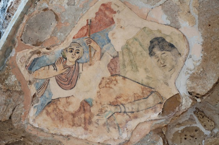 Fresco in the bath complex depicting the myth of Hylas and the water nymphs, end of 3rd century AD, Salamis