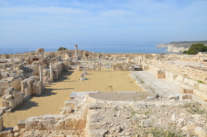 The Early Christian Basilica dating to the beginning of the 5th century AD, Kourion