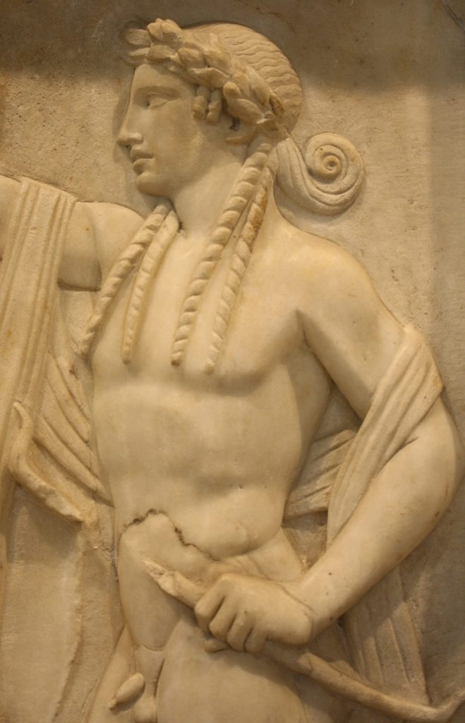 2nd century CE funerary relief slab. (Archaeological Museum of Piraeus)