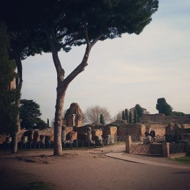 Ruins of villas on the Palatine, as seen during our Rome visit.