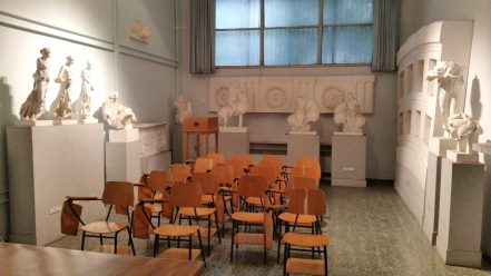 Seminar Room Sapienza University as seen during our Rome visit