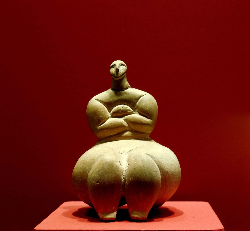 Figure from Zaghra Circle, on display at Ggantija Museum. Photo © Garry Shaw.