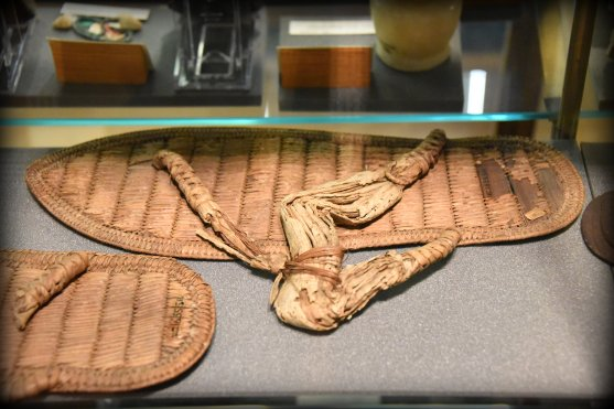 A pair of fine palm-fiber sandals. From Sedment, Egypt. 18th Dynasty, 1543–1292 BCE. With thanks to the Petrie Museum of Egyptian Archaeology, UCL. Photo © Osama S. M. Amin.
