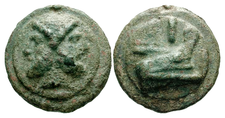 The as (plural asses), also assarius (rendered into Greek as ἀσσάριον, assarion) was a bronze, and later copper, coin used during the Roman Republic and Roman Empire.