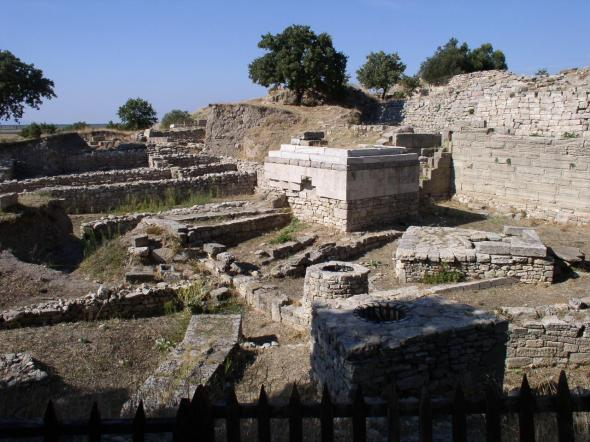 Ruins of ancient Troy in present-day Turkey. (Photo courtesy of Emily Hauser.)