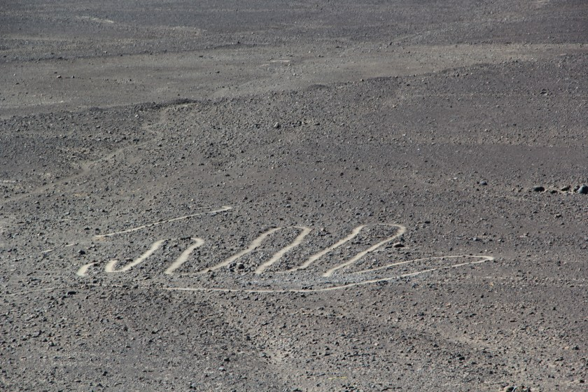 A hand design. Image © Caroline Cervera. Nazca lines