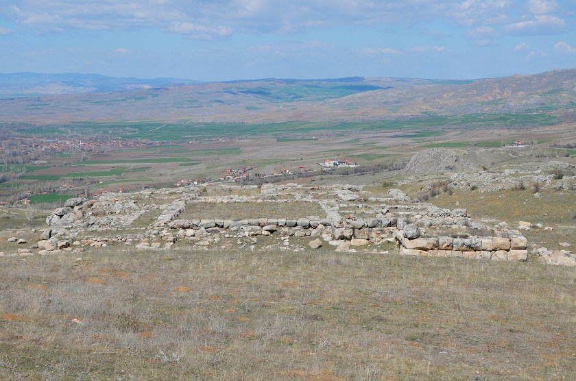 The ruins of one of the biggest Hittite temples of the Temple District.