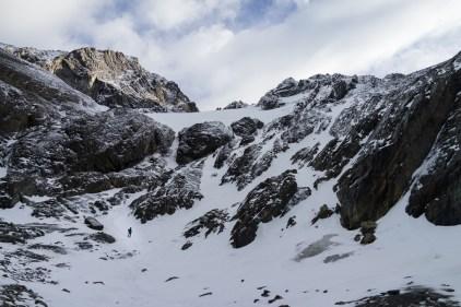 Le Glaciar Martial surplombe la ville d'Ushuaïa.