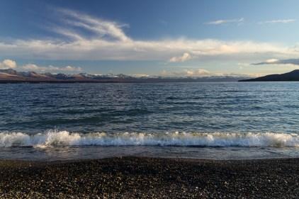 En bord du lac qui se prenait pour la mer.