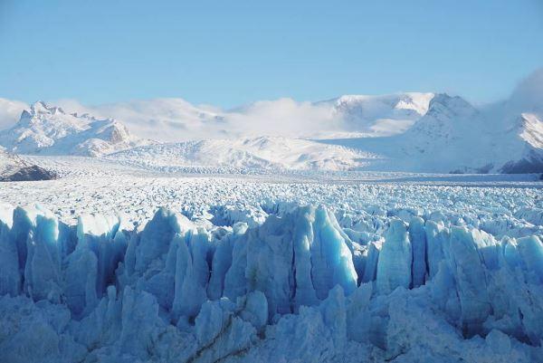 Le glacier Perito Moreno vu de haut.