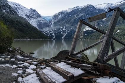 Au bord du lac du parc Queulat.