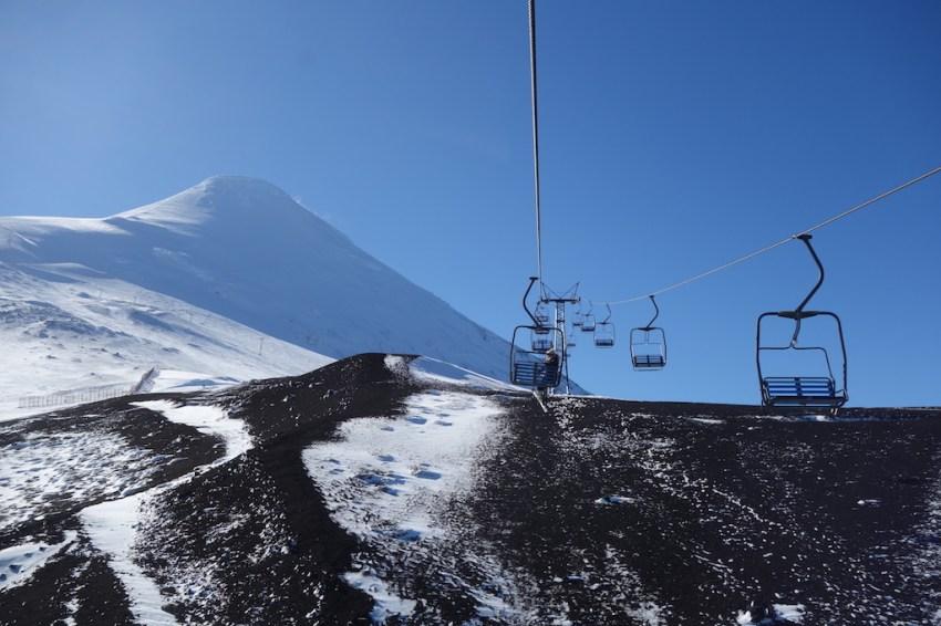 Télésiège de la station de ski