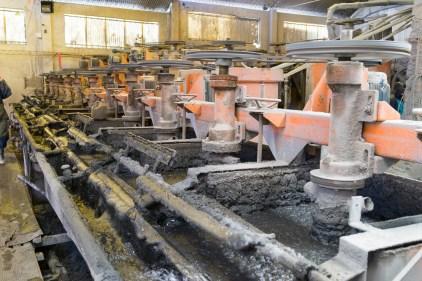 L'usine de traitement des mineraies.