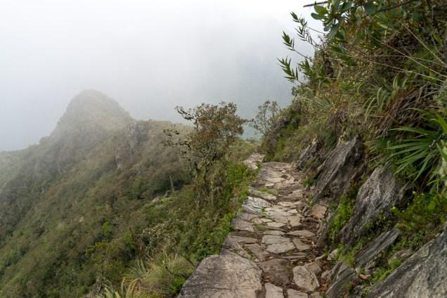 """Une des """"rues"""" de la cité du Machu-Picchu"""