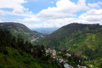 Vue des quartiers sud de Quito.
