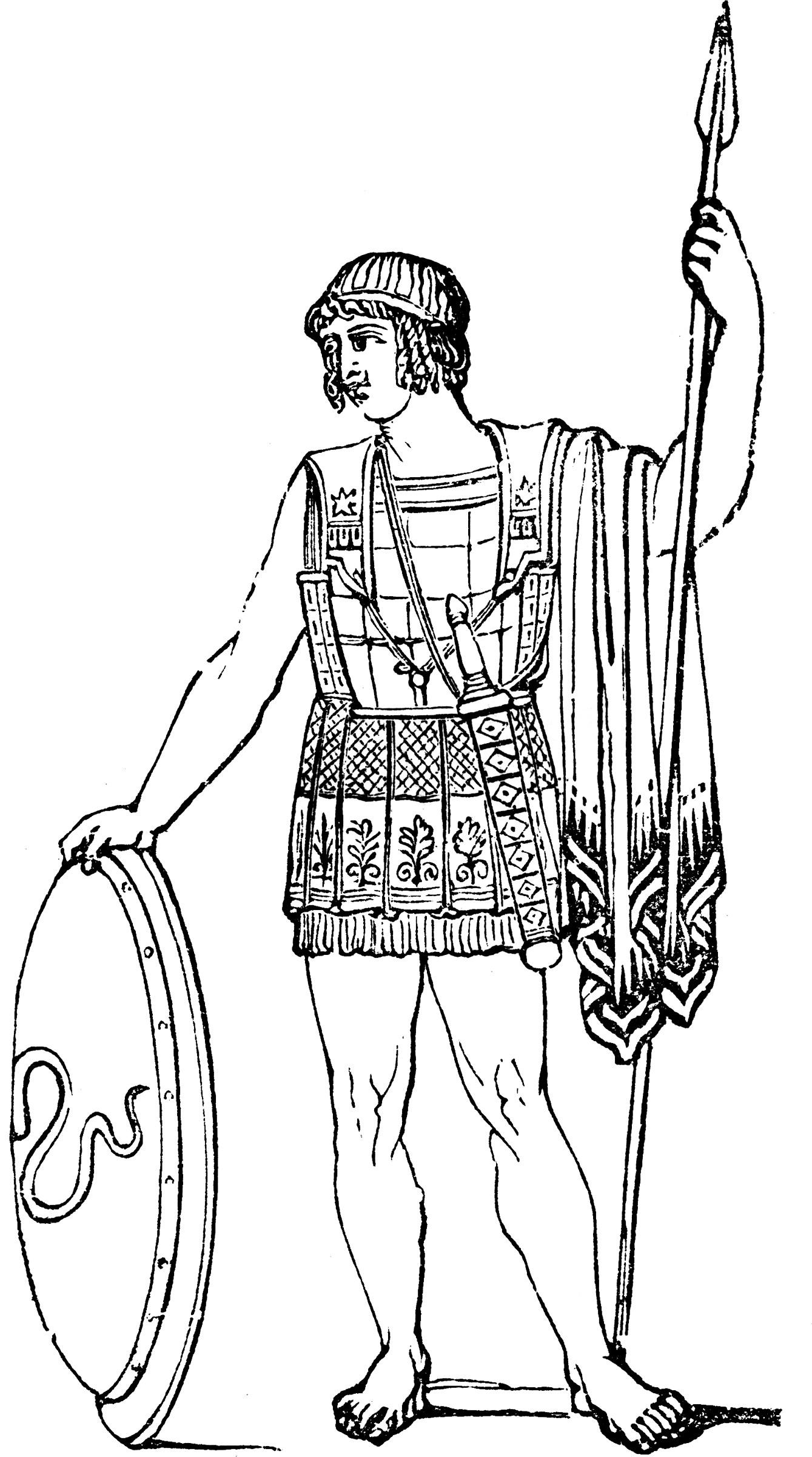 Greek Soldier ClipArt ETC
