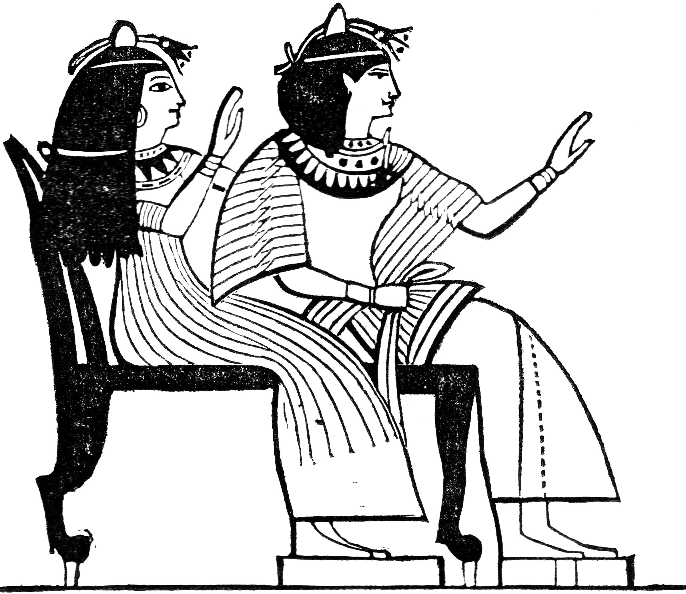 Egyptian Double Chair  ClipArt ETC