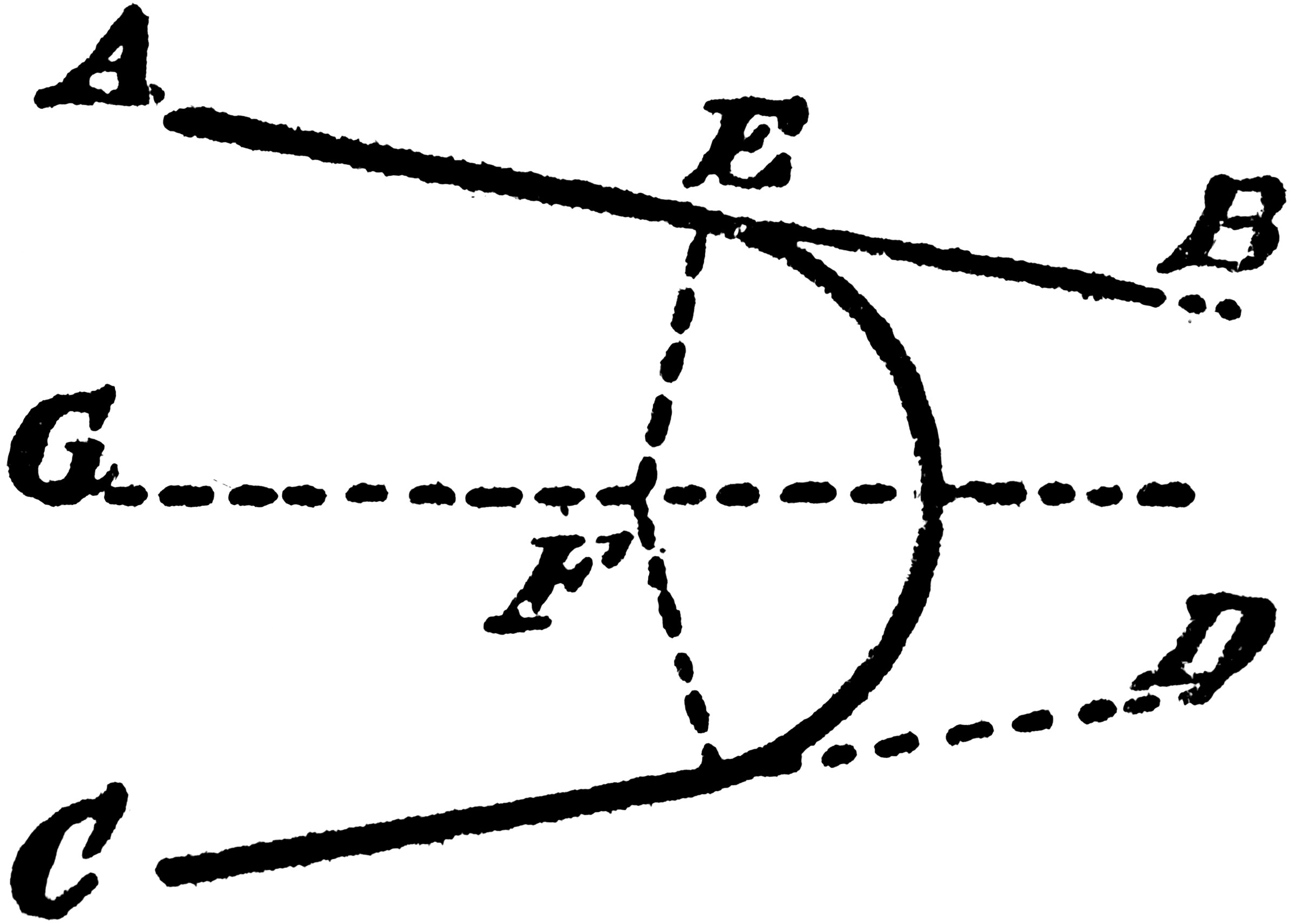 Construction Of A Circle That Tangents 2 Given Lines