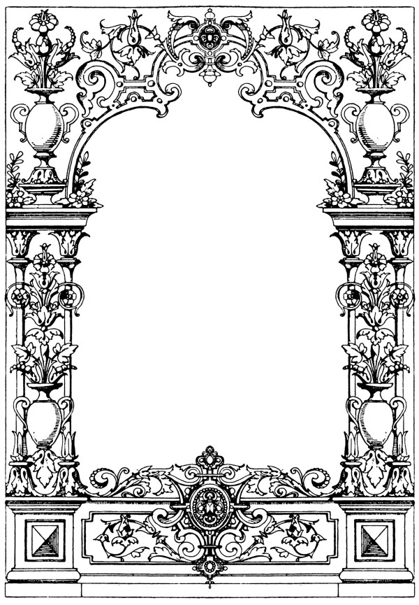 border typographical frame clipart